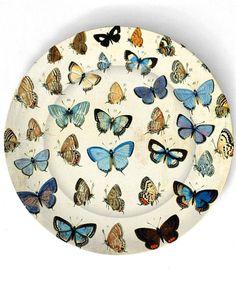 Butterflies Melamine Plate by TheMadPlatters