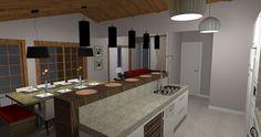 Resultado de imagem para cozinhas com forro de madeira