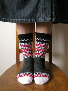 happy socked feet