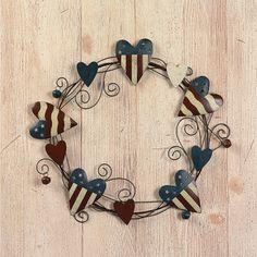 Americana Heart Wreath - TerrysVillage.com