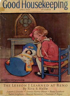 Good Housekeeping cover, April 1932 by artist Jessie Wilcox Smith