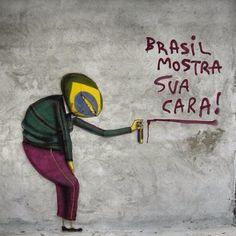 Brasil, mostra sua cara! Quero ver quem paga pra gente ficar assim |Cazuza | Os Gêmeos | Street Art | Brazil |