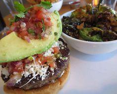 Oaxaca Burger with Brussels Sprouts at Flip Burger Boutique (Atlanta, GA). #UniqueEats #burgers