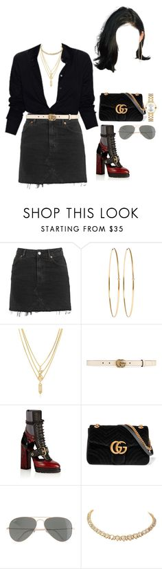 """""""At the Rayban launch with Kyn and Lynn"""" by nytown ❤ liked on Polyvore featuring Topshop, Jennifer Meyer Jewelry, Kenzo, Gucci, Burberry, J.Crew and Movado"""