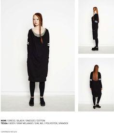 nenukko.com #black #sporty #oversize #dress
