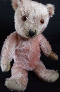 RARE Fine Antique Vintage Chiltern Hugmee Pink Mohair Teddy Bear 1930s 20"