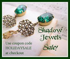 Shabby chic jewelry on sale now!