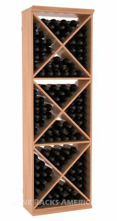 "Five Star Series: 132 Bottle Solid X-Cube Wine Cellar Rack in Mahogany with Satin Finish by Wine Racks America®. $885.54. 11/16"" wood thickness. Designed for 750ml wine bottles. Some assembly required .. Bottle capacity: 132 bottles (750ml). Industry 1-1/2"" toe-kick keeps your wine off the floor.. Made from eco-friendly wood sources in sustainable forests. 3 ¾"" wide cubicles for bottle access.. Choose From either Pine, Redwood, or Mahogany along with optional ..."
