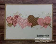 by Kirsteen: And Many More, Gorgeous Grunge, Blushing Bride Glimmer Paper, Corrugated Paper, Love Blossoms dsp stack, Sweetheart Punch - all from Stampin' Up!