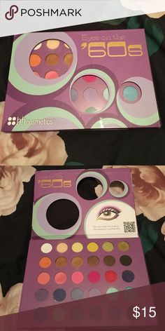 Bh cosmetics Eyes on the 60s palette Super pigmented, but I don't have a need for colors like this anymore! Only 2 colors slightly used. bh cosmetics Makeup Eyeshadow
