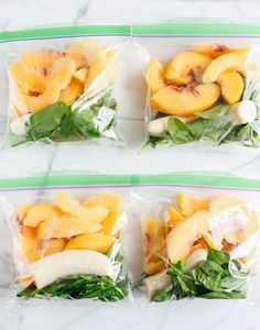 Frozen smoothie packs sure make meal prep a breeze! This delicious Ginger Peach Detox Smoothie is sweet, creamy and super refreshing! @zingstevia #zingonthego #ad