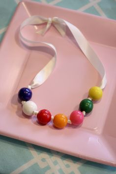 Gumball necklace: Sweet Shoppe 8th Birthday Party