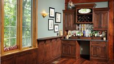 Beautiful Custom Cabinets Handcrafted for you, by Mullet Cabinet, in the heart of Amish Country, Ohio. Built In Bar, Amish Country, Bar Areas, Wine Storage, Custom Cabinets, Liquor Cabinet, Living Spaces, Kitchen Cabinets, Furniture