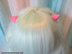 Pastel Goth Horn Hair Clips Pastel Pink by NerdyLittleSecrets