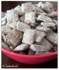 I make these every Christmas for my kids!  They love these!!!    Puppy Chow recipe at www.jamhands.net