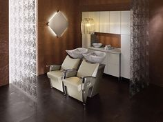 Simple and elegant Hair Salon Interior, Salon Interior Design, Salon Design, Small Salon, Shampoo Bowls, Hair Creations, Luxury Furniture, Interior Inspiration, Luxury Homes
