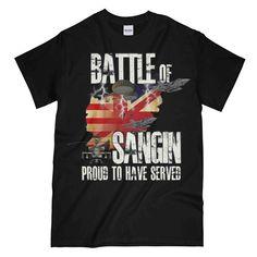 BATTLE OF SANGIN Printed T-Shirt New T Shirt Design, Shirt Designs, Cool Graphic Tees, Afghanistan, Battle, Cool Designs, Printed, Mens Tops, Military