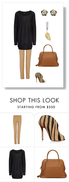 """""""#68"""" by cindrof on Polyvore featuring Mode, Joseph, Christian Louboutin, Ole Lynggaard und Hermès"""