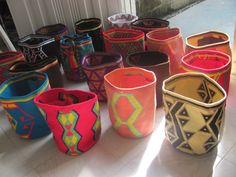 Mochilas Wayuu Planter Pots, Fiber, Mugs, Baggage, Tableware, Diy, Crochet, Google, Creativity