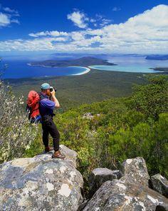 Summit of Mt. Maria. Maria Island Tasmania Australia. The whole island is a national park