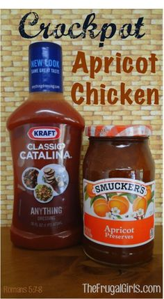 Crockpot Apricot Chicken Recipe! ~ from TheFrugalGirls.com ~ just a few ingredients and you've got yourself a delicious and easy Crockpot dinner! #crockpot #slowcooker #chicken #recipes
