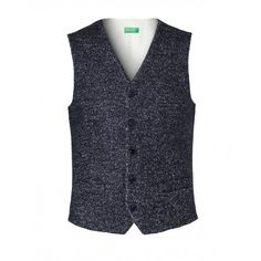 Chaleco, tejido de lana mixto, con forro. Abertura delantera con 5 botones, bolsillos delanteros y bolsillito de filete. Viste slim fit.