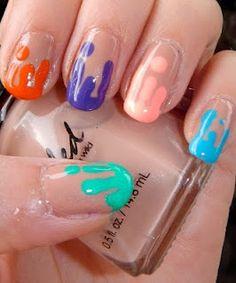 Paint Drip Nails
