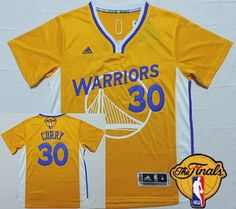 da448ae47fb2 Men s Golden State Warriors Stephen Curry Revolution Yellow Short-Sleeved  2016 The NBA Finals Patch Jersey