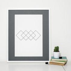 Geometric Art Print Minimalist Rhombus Design by Sweet Oxen www.sweetoxen.co.uk