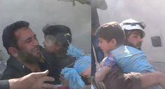 VIDEO: Dos niños son rescatados de entre los escombros en Siria