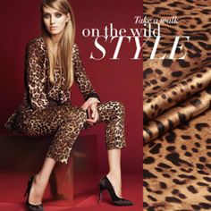 Wild leopard print tantalising mulberry silk silks and satins silk material clothes skirt Printed Silk Fabric, Silk Satin Fabric, Linen Fabric, Fabric Printing, Crepe Satin, Wild Style, Silk Material, Silk Charmeuse, Mulberry Silk