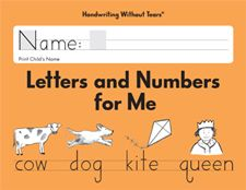 Letters and Numbers for Me by HWT - Kindergarten