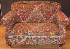 ANTIQUE KILIM SOFA,W135 D90 H85 ,You are Welcome to visit our shop and choose Kilim Rug, We can custom make furniture suitable for your requirements, We offer a range of Kilim Upholstered Furniture; all Kilims used in our products are old and genuine, http://www.rugstoreonline.co.uk/category/19/kilim-furniture