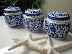 Chinese ginger jars... Pretty