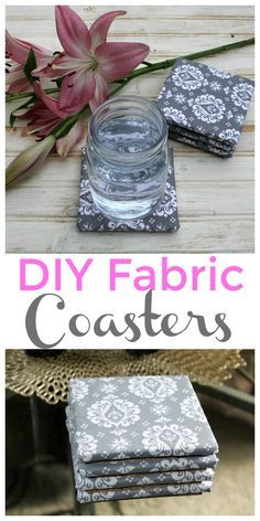 DIY Fabric Coasters - these coasters are so easy to make and you can choose your favorite fabric to completely customize them to match your decor!