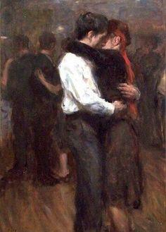 Ron Hicks, Slow Dance woah perfect for the dancing scene. Romance Arte, Illustration Art, Illustrations, Slow Dance, Wow Art, Classical Art, Couple Art, Renaissance Art, Pretty Art