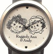 Raggedy Ann & Andy Silver Watch from Japan U$55