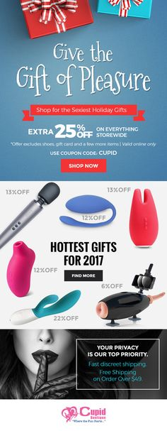 Find the perfect gift for your loved one! Now Get Extra 25% Off. Use Coupon Code: CUPID |  View More:  https://www.cupidboutique.com/ #holidayshopping #giftideas