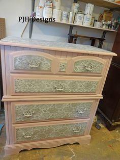PJH Designs Hand Painted Antique Furniture: Antoinette Pink & Lace Bedroom Set