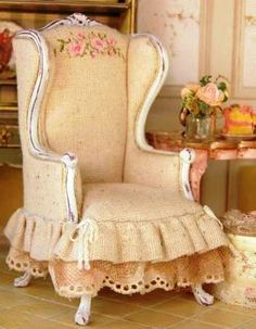 Beautiful comfy shabby chic chair