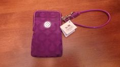 NEW-COACH-plum-purple-nyon-julia-universal-phone-case-wristlet-60890