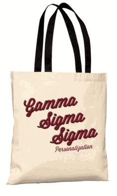 Gamma Sigma Sigma Scripty Tote Bag