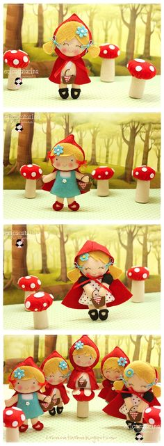 "I can't pick just one, they are so pretty. ♡^_^♡ Erica, I love your works ♡^_^♡ - ""Little Red Ridding Hood by Erica Catarina"""