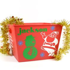 Let The Kids Decorate A Small Bin With Custom Holiday Stickers This Is A Great  C2 B7 Christmas Carchristmas Stickerscraft