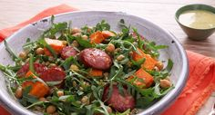 Spice up your salad with chorizo and sweet potato - as featured on today's episode of The Morning Show!   Recipe thanks to New Idea Magazine.   #summersalad #recipe #dairyfree