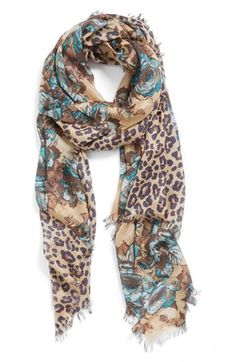 Nordstrom 'Panthera' Cashmere & Silk Scarf available at #Nordstrom