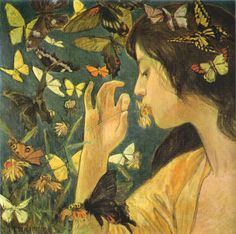 Butterfly 1904, by Phoebe Anna Traquair