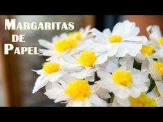 Margaritas de Papel Manualidad muy Facil - YouTube