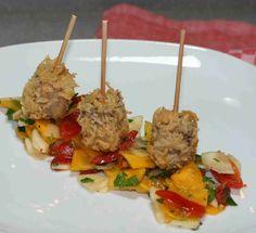 bushcooks kitchen: Pastinaken-Kürbis-Salat mit Kalbskopf-Lollies