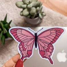 This is my handmade and waterproof Vinyl-Sticker Sticker Shop, Butterfly, Stickers, Vintage, Handmade, Crafts, Shopping, Etsy, Art